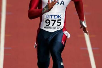 Bryan Clay of the US in the 100m of the Decathlon (Getty Images)