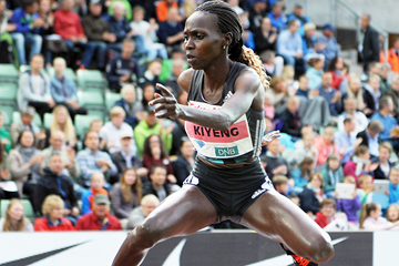 Hyvin Kiyeng wins the 3000m steeplechase at the IAAF Diamond League meeting in Oslo (Mark Shearman)