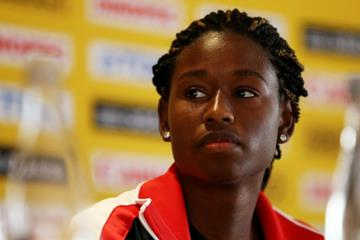 .Candace Hill at the pre-event press conference for the IAAF World Youth Championships Cali 2015 (Getty Images)