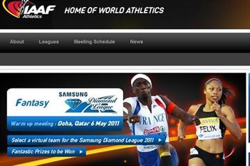 The IAAF Fantasy Athletics Game Landing Page (IAAF.org)