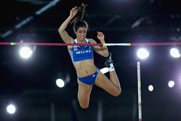 Ekaterini Stefanidi in the pole vault at the IAAF World Indoor Championships Portland 2016 (Getty Images)