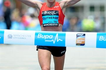 Big win for Helen Clitheroe in the Manchester 10Km (Mark Shearman)