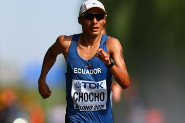Andres Chocho at the 2015 World Championships (Getty Images)