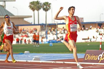 David Bustos takes the 1500m title (F. Lozano / Organisers)