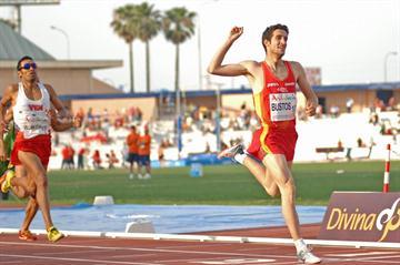 David Bustos takes the 1500m title (F. Lozano / Organisers)