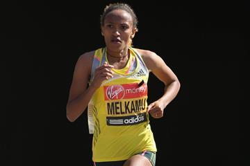 Ethiopian distance runner Meselech Melkamu (Getty Images)