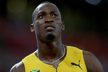 Jamaican sprint hurdler Hansle Parchment at the IAAF World Championships, Beijing 2015 (Getty Images)