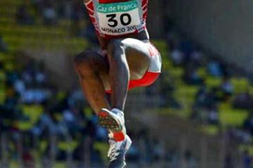 Eunice Barber jumps to a French record in Monaco (Getty Images)