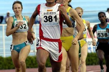 Yin Yin Kine  of Myanmar at the 2003 Asian CHampionships at which she won 400m and 800m gold (Chua Chong Jin)