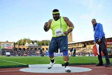 Reese Hoffa at the 2014 IAAF Diamond League meeting in Stockholm (DECA Text & Bild)