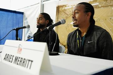 US sprint hurdlers Aries Merritt and Jason Richardson (Getty Images)