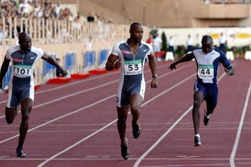 Asafa Powell of Jamaica wins the 100m at the World Athletics Final (Getty Images)