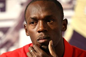 Usain Bolt meeting the press in Rome (Giancarlo Colombo/FIDAL)