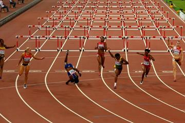 The women's 100m hurdles final at the IAAF World Championships, Beijing 2015 (Getty Images)
