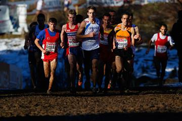 Leaders in the senior men's race at the 2014 European Cross Country Championships in Samokov (Getty Images)