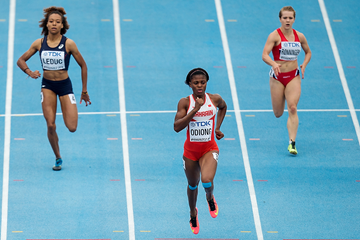 Edidiong Ofonime Odiong in the 200m at the IAAF World U20 Championships Bydgoszcz 2016 (Getty Images)