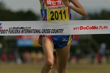 Megumi Kinukawa victorious at the Fukuoka Cross Country (Takefumi Tsutsui (Agence SHOT))