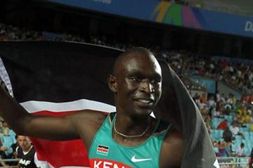 David Lekuta Rudisha of Kenya celebrates claiming gold in the men's 800 metres final (Getty Images)