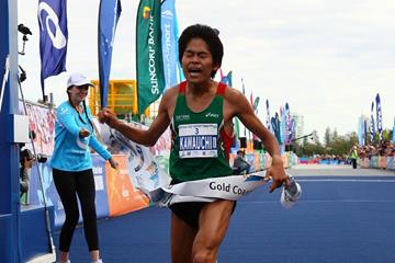 Japan's Yuki Kawauchi winning the 2013 Gold Coast Airport Marathon (Organisers)