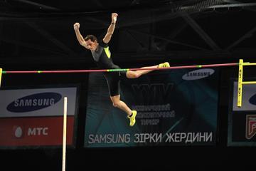 Renaud Lavillenie at the 2013 Samsung Pole Stars, Donetsk (organisers)