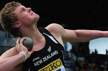 Jacko Gill unleashes his 24.35m World Youth best in Lille (Getty Images)