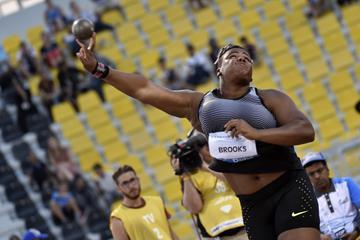 Tia Brooks at the 2016 IAAF Diamond League meeting in Doha (Hasse Sjogren)