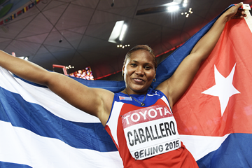 World discus champion Denia Caballero at the IAAF World Championships, Beijing 2015 (Getty Images)