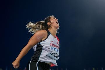 Javelin bronze medallist Eda Tugsuz at the IAAF World U20 Championships Bydgoszcz 2016 (Getty Images)
