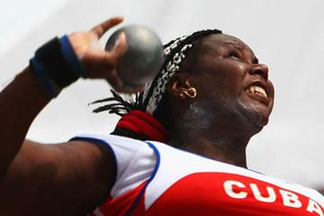 Yumileidi Cumba of Cumba in the Shot Put (Getty Images)