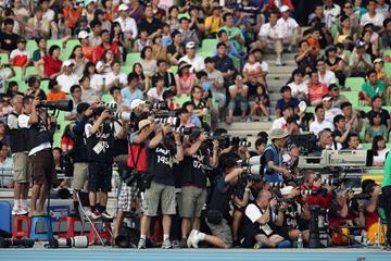 Photographers at the 2011 IAAF World Championships in Daegu (Getty Images)