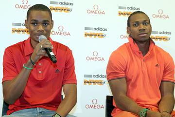 Warren Weir and Yohan Blake in New York (Victah Sailer)