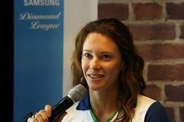 Fabiana Murer at the pre-meet press conference in Stockholm (Bob Ramsak)