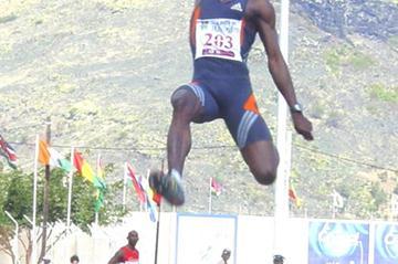 Ignisious Gaisah of Ghana at the African Championships (Mark Ouma)