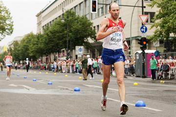 Russia's Sergey Kirdyapkin in the men's 50 Kilometres Race Walk in Berlin during the 12th IAAF World Championships in Athletics (Getty Images)