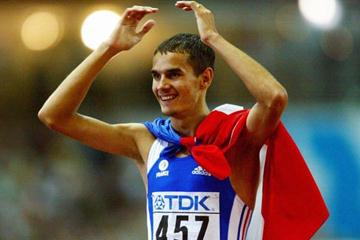 Mehdi Baala of France wins silver in the 1500m (Getty Images)