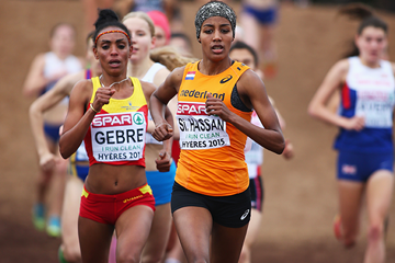 Sifan Hassan on her way to winning the senior women's race at the 2015 European Cross Country Championships in Hyeres (Getty Images)