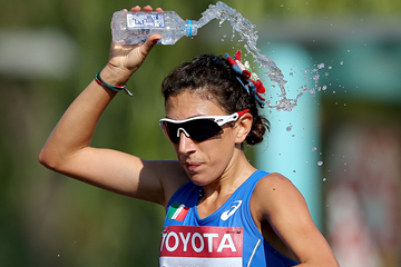 Antonella Palmisano in the 20km race walk at the IAAF World Championships Beijing 2015 (Getty Images)