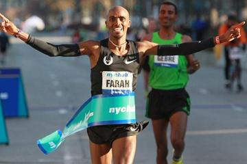 Impressive debut - Mo Farah takes the New York City Half Marathon (Lisa Coniglio/New York Road Runners)