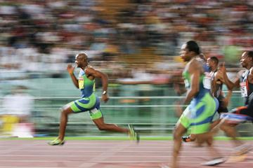 Asafa Powell of Jamaica dominates the men's 100m in Rome Golden League (Getty Images)