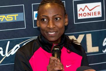 Abeba Aregawi at the press conference ahead of the 2014 XL-Galan (Hasse Sjogren)