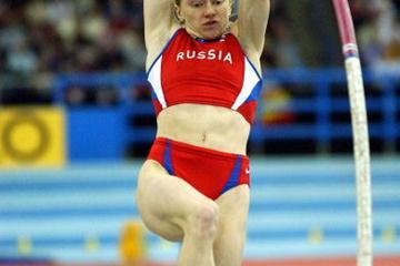 Svetlana Feofanova in action in the women's pole vault final (Getty Images)