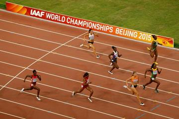 Dafne Schippers on her way to winning the 200m at the IAAF World Championships, Beijing 2015 (Getty Images)