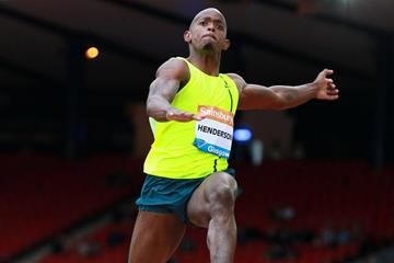 Jeff Henderson at the 2014 IAAF Diamond League meeting in Glasgow (Victah Sailor)