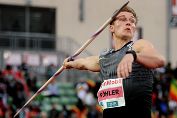 Thomas Rohler, winner of the javelin at the IAAF Diamond League meeting in Oslo (Mark Shearman)