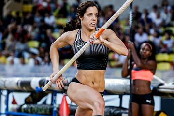 Ekaterini Stefanidi in the pole vault at the IAAF Diamond League meeting in Monaco (Philippe Fitte)
