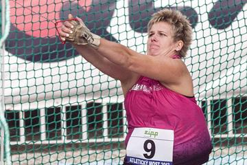 Anita Wlodarczyk at the 2013 Athletics Bridge meet in the Slovak town of Dubnica  (Organisers/Jelinek foto)