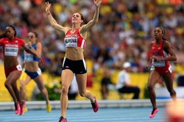 Zuzana Hejnova in the women's 400m hurdles at the IAAF World Championships Moscow 2013 (Getty Images)
