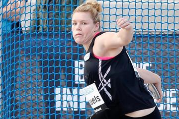Dani Samuels, winner of the discus at the 2014 Australian Championships (Getty Images)