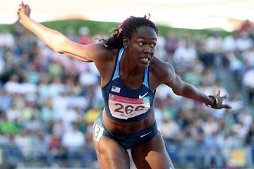 Yvette Lewis taking the Pan-American Games title (Getty Images)