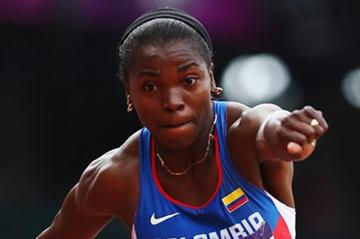 Caterine Ibarguen of Colombia competes in the Women's Triple Jump qualification on Day 7 of the London 2012 Olympic Games at Olympic Stadium on August 3, 2012 (Getty Images)